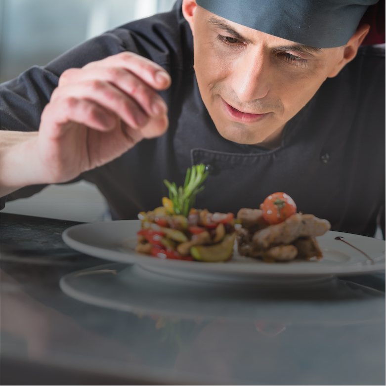 Chef Preparing Meal